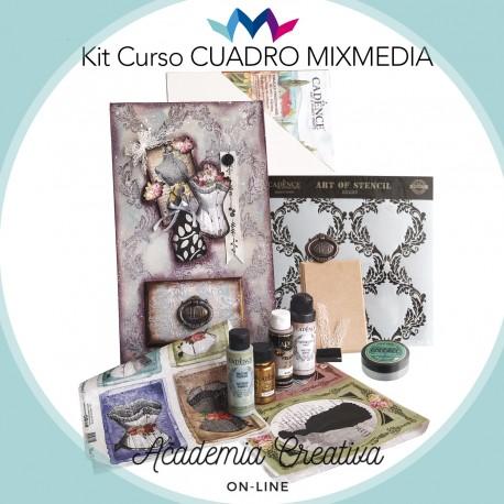 Kit Cuadro Mix Media ACADEMIA CREATIVA