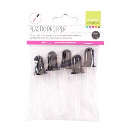 Pipeta de plástico 7,6 cm 5 piezas