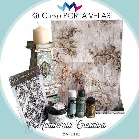 Kit Porta Velas ACADEMIA CREATIVA