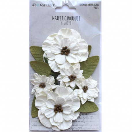 49&market Majestic Bouquet-Ivory