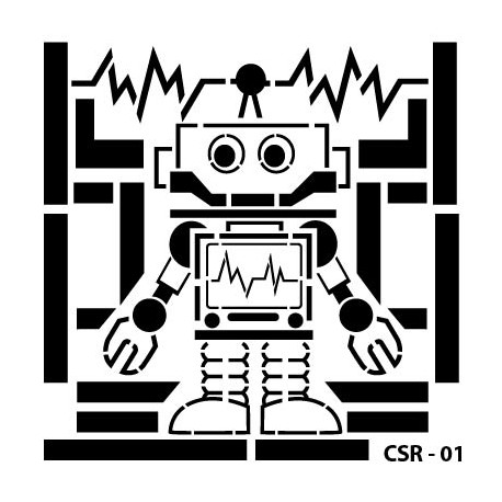 KIDS ROBOT STENCIL SERIES CSR-01 15X15