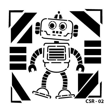 KIDS ROBOT STENCIL SERIES CSR-02 15X15