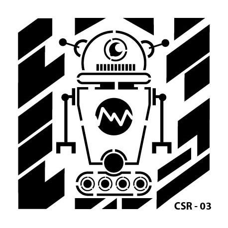 KIDS ROBOT STENCIL SERIES CSR-03 15X15