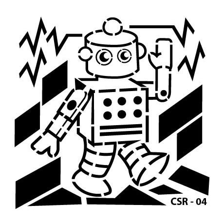 KIDS ROBOT STENCIL SERIES CSR-04 15X15