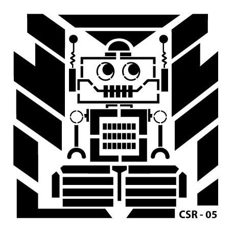 KIDS ROBOT STENCIL SERIES CSR-05 15X15