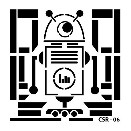 KIDS ROBOT STENCIL SERIES CSR-06 15X15