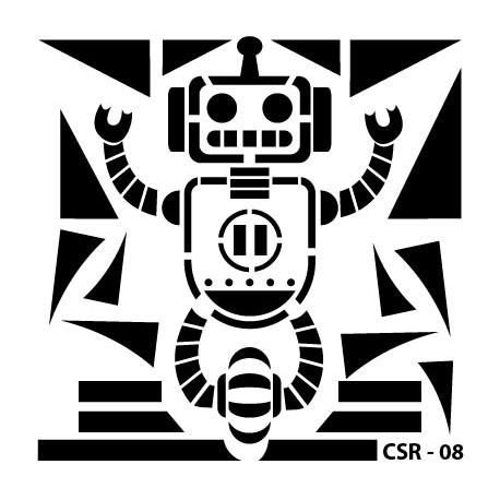 KIDS ROBOT STENCIL SERIES CSR-08 15X15