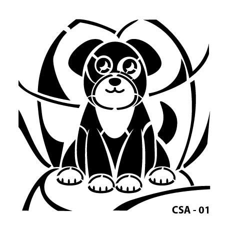 KIDS ANIMAL STENCIL SERIE CSA-01 15X15