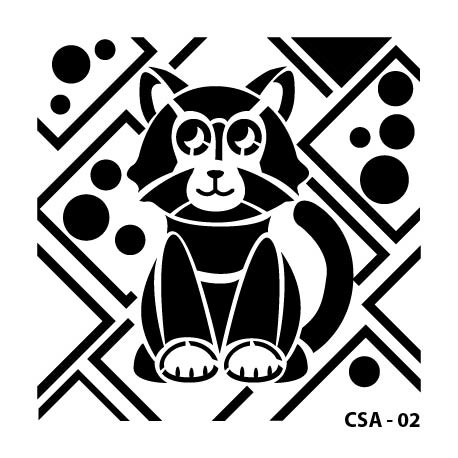 KIDS ANIMAL STENCIL SERIE CSA-02 15X15