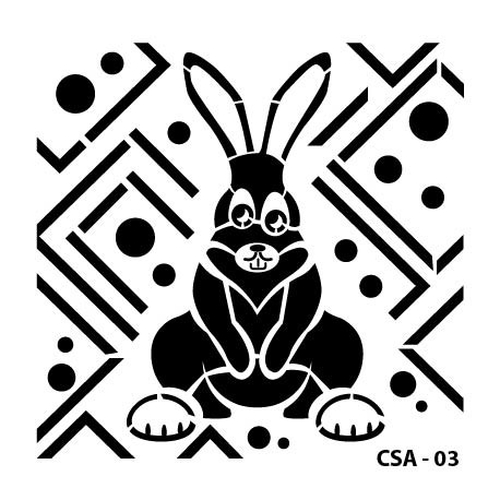 KIDS ANIMAL STENCIL SERIE CSA-03 15X15