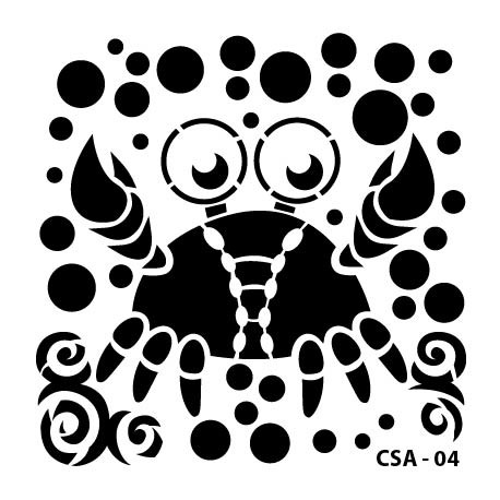 KIDS ANIMAL STENCIL SERIE CSA-04 15X15