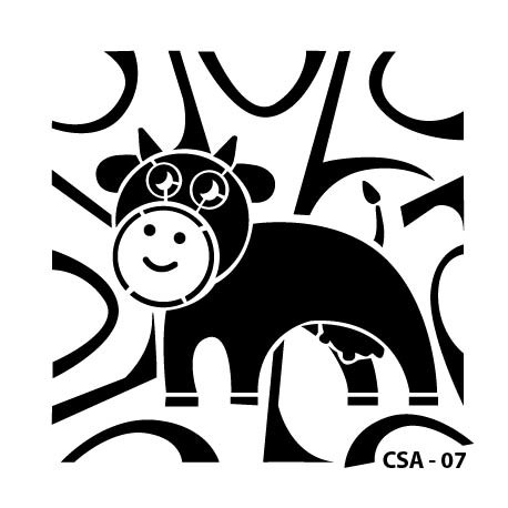 KIDS ANIMAL STENCIL SERIE CSA-07 15X15