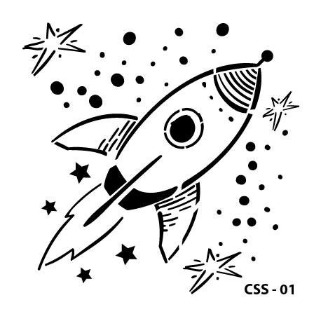 KIDS SPACE STENCIL SERIES CSS-01 15X15