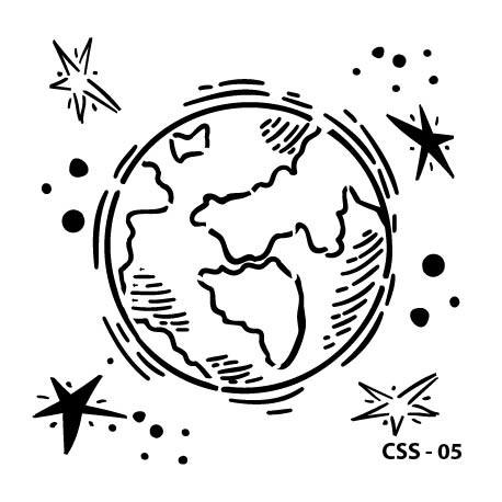 KIDS SPACE STENCIL SERIES CSS-05 15X15
