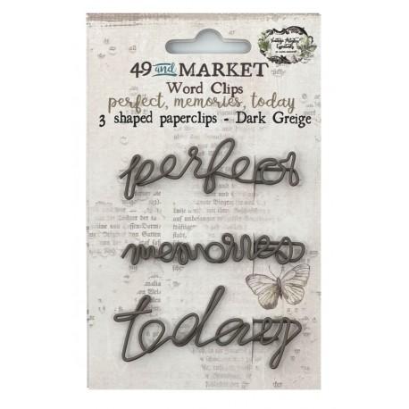 49&market Word Clips-Dark Greige