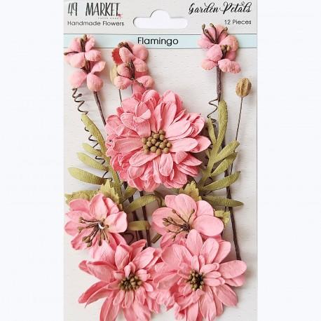 49&market Garden Petals-Flamingo
