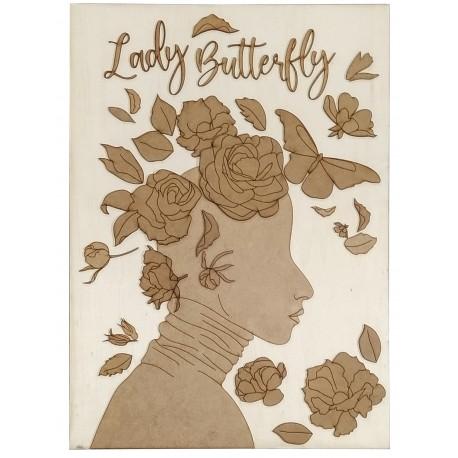 Silueta Lady Butterfly