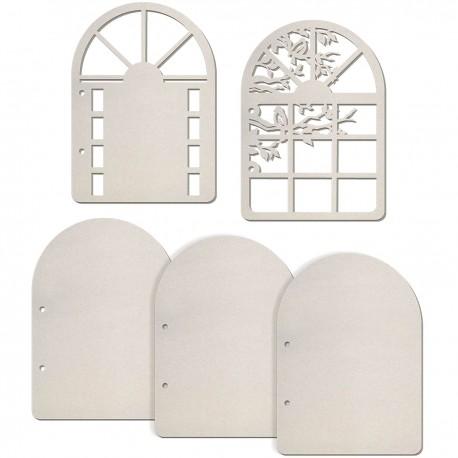 Set 5 Album Pages Door and Window