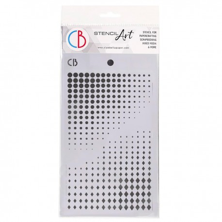 "Texture Stencil 5""x8"" Dots & Diamonds"