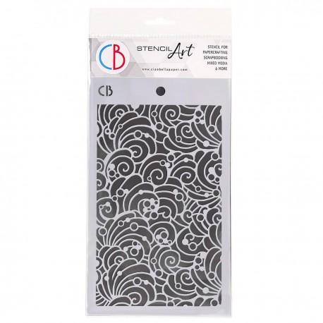 """Texture Stencil 5""""x8"""" Shells & Bubbles"""