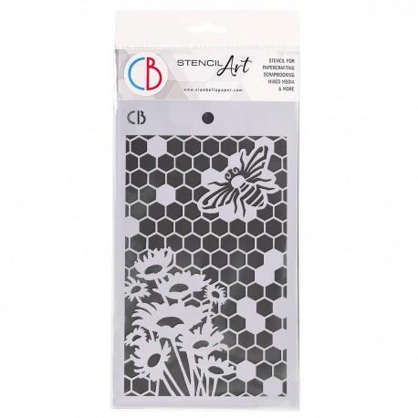 "Texture Stencil 5""x8"" Queen Bee"