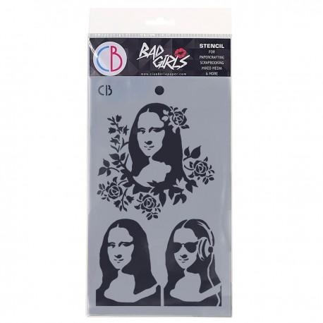 """Texture Stencil 5""""x8"""" Monnalisa"""
