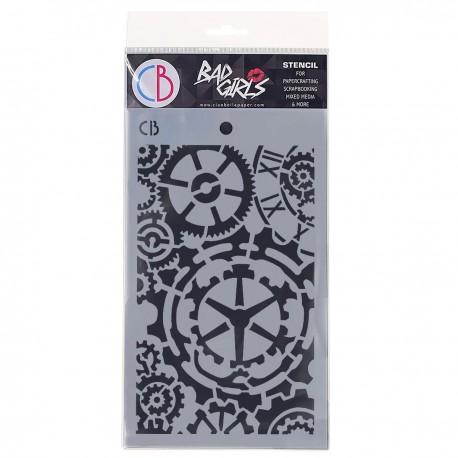 "Texture Stencil 5""x8"" Gears"