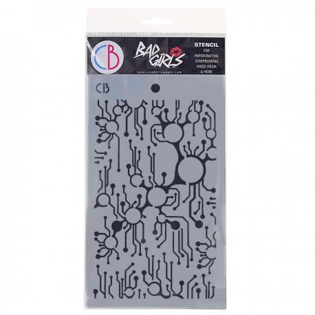 "Texture Stencil 5""x8"" Metro"