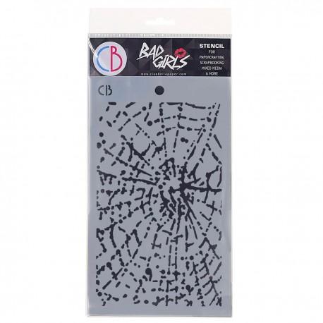 """Texture Stencil 5""""x8"""" Spider Net"""