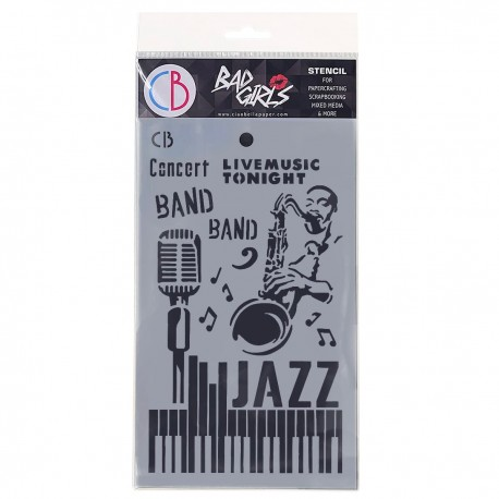"""Texture Stencil 5""""x8"""" Jazz"""