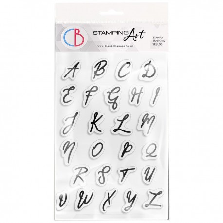 """Clear Stamp Set 4""""x6"""" Muse Uppercase Alphabet"""