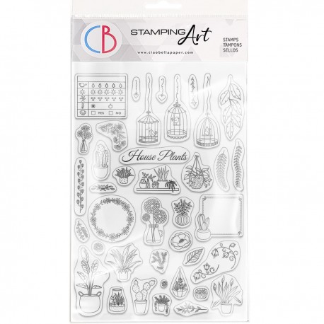 """Clear Stamp Set 6""""x8"""" BuJo House Plants"""
