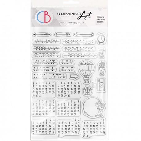 "Clear Stamp Set 6""x8"" BuJo Infinite Calendar"