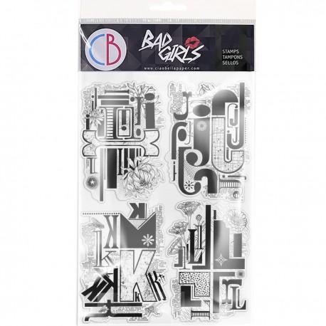 """Clear Stamp Set 6""""x8"""" Design Letters IJKL"""