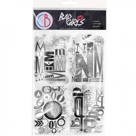 """Clear Stamp Set 6""""x8"""" Design Letters MNOP"""