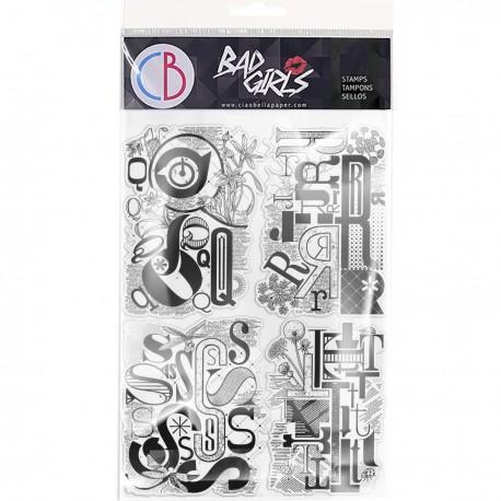 "Clear Stamp Set 6""x8"" Design Letters QRST"