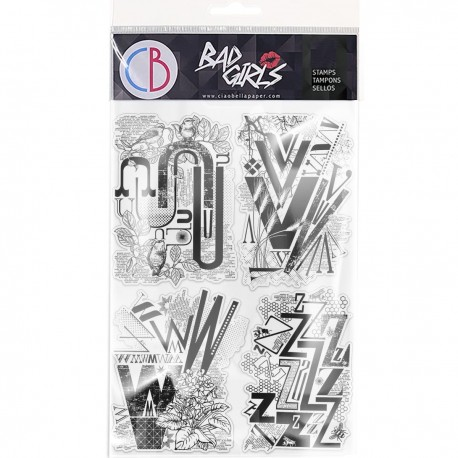 """Clear Stamp Set 6""""x8"""" Design Letters UVWZ"""
