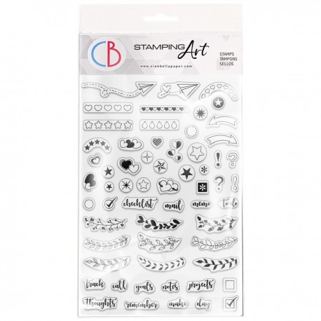 """Clear Stamp Set 4""""x6"""" BuJo Planner"""
