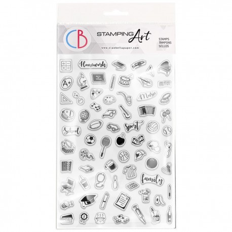 """Clear Stamp Set 4""""x6"""" BuJo Family"""