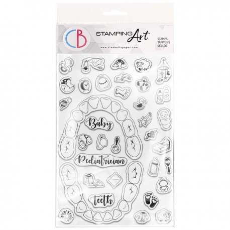 """Clear Stamp Set 4""""x6"""" BuJo Baby"""