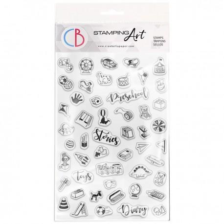 "Clear Stamp Set 4""x6"" BuJo Preschool"