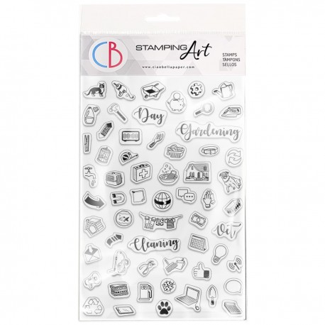 """Clear Stamp Set 4""""x6"""" BuJo Everyday"""