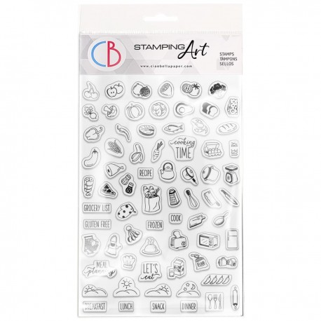 """Clear Stamp Set 4""""x6"""" BuJo Cooking"""