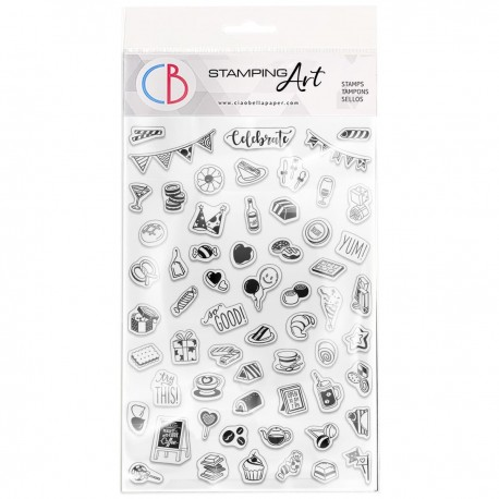 """Clear Stamp Set 4""""x6"""" BuJo Party"""