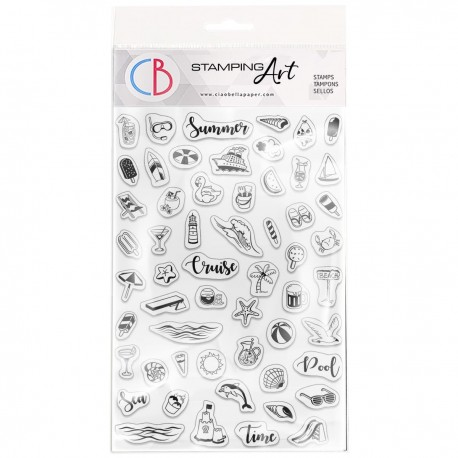 """Clear Stamp Set 4""""x6"""" BuJo Summer"""