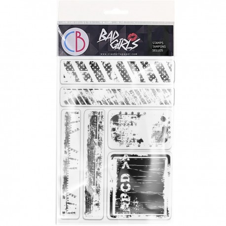 """Clear Stamp Set 4""""x6"""" Urban Tags & Borders"""