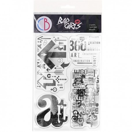 """Clear Stamp Set 4""""x6"""" Art is over here"""