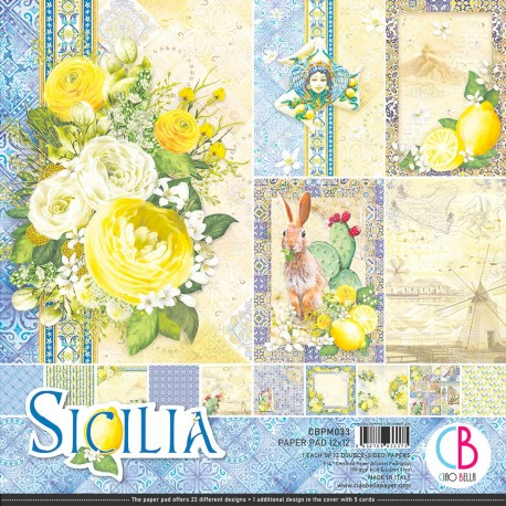 """Sicilia Paper Pad 12""""x12"""" 12/Pkg"""