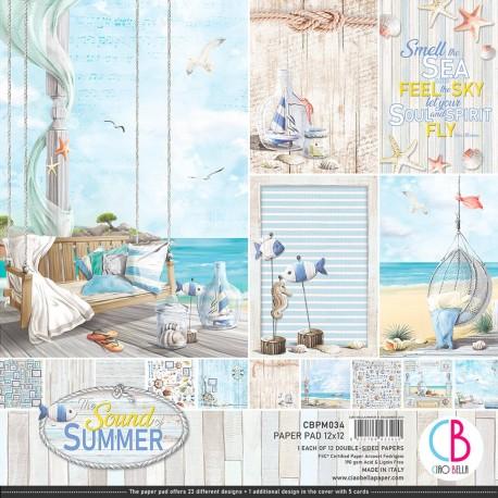 "Sound of Summer Paper Pad 12""x12"" 12/Pkg"
