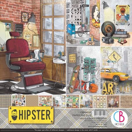 "Hipster Paper Pad 12""x12"" 12/Pkg"